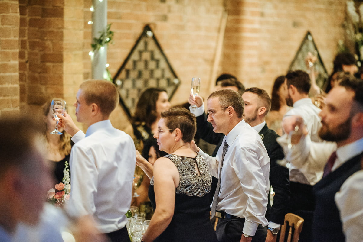Joanne and Tom at Swallows Nest Barn - Warwickshire Wedding Photographer 96