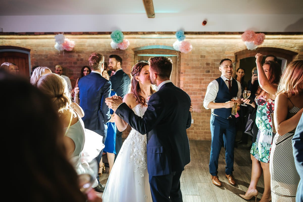 Joanne and Tom at Swallows Nest Barn - Warwickshire Wedding Photographer 100