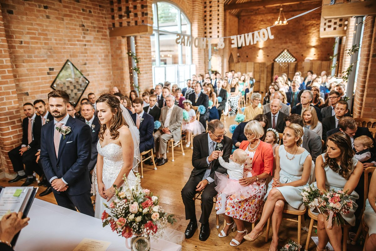 Joanne and Tom at Swallows Nest Barn - Warwickshire Wedding Photographer 36