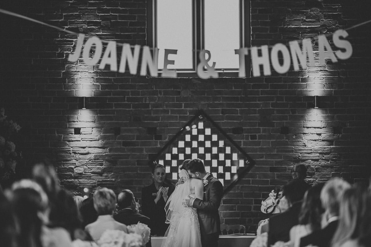 Joanne and Tom at Swallows Nest Barn - Warwickshire Wedding Photographer 41
