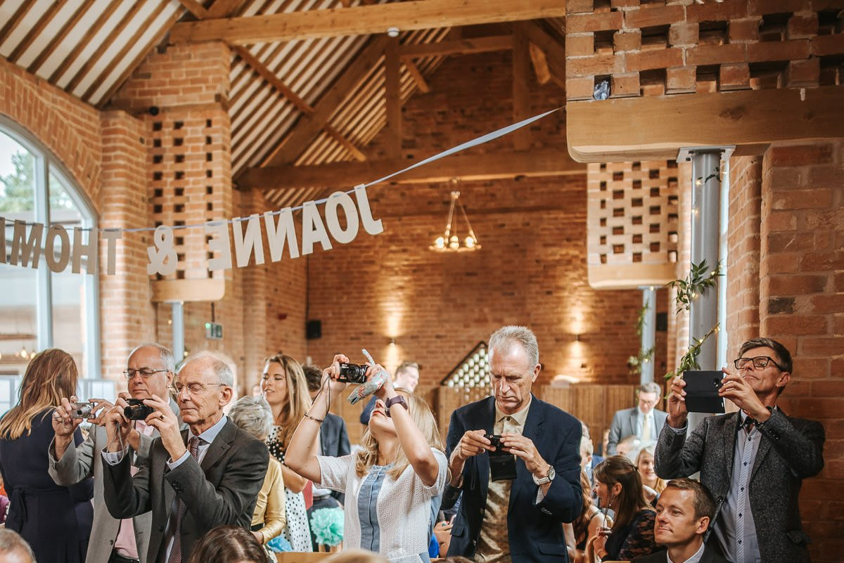 Joanne and Tom at Swallows Nest Barn - Warwickshire Wedding Photographer 43