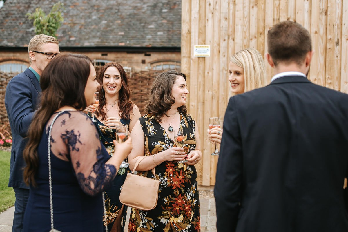 Joanne and Tom at Swallows Nest Barn - Warwickshire Wedding Photographer 56