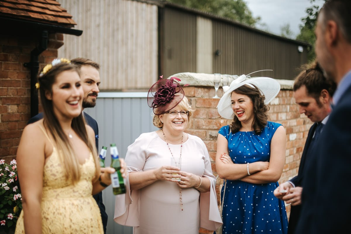 Joanne and Tom at Swallows Nest Barn - Warwickshire Wedding Photographer 15