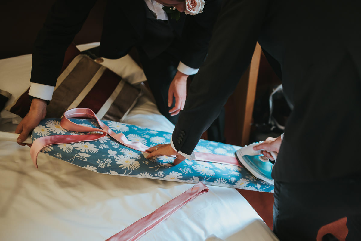 missenden abbey ironing the ties