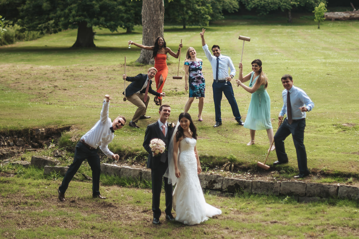 missenden abbey guest photobombing the couple