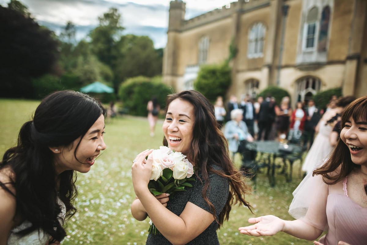 missenden abbey wedding bouquet toss