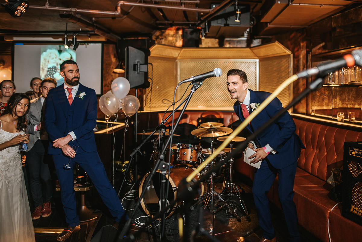 city london wedding at the botanist speeches
