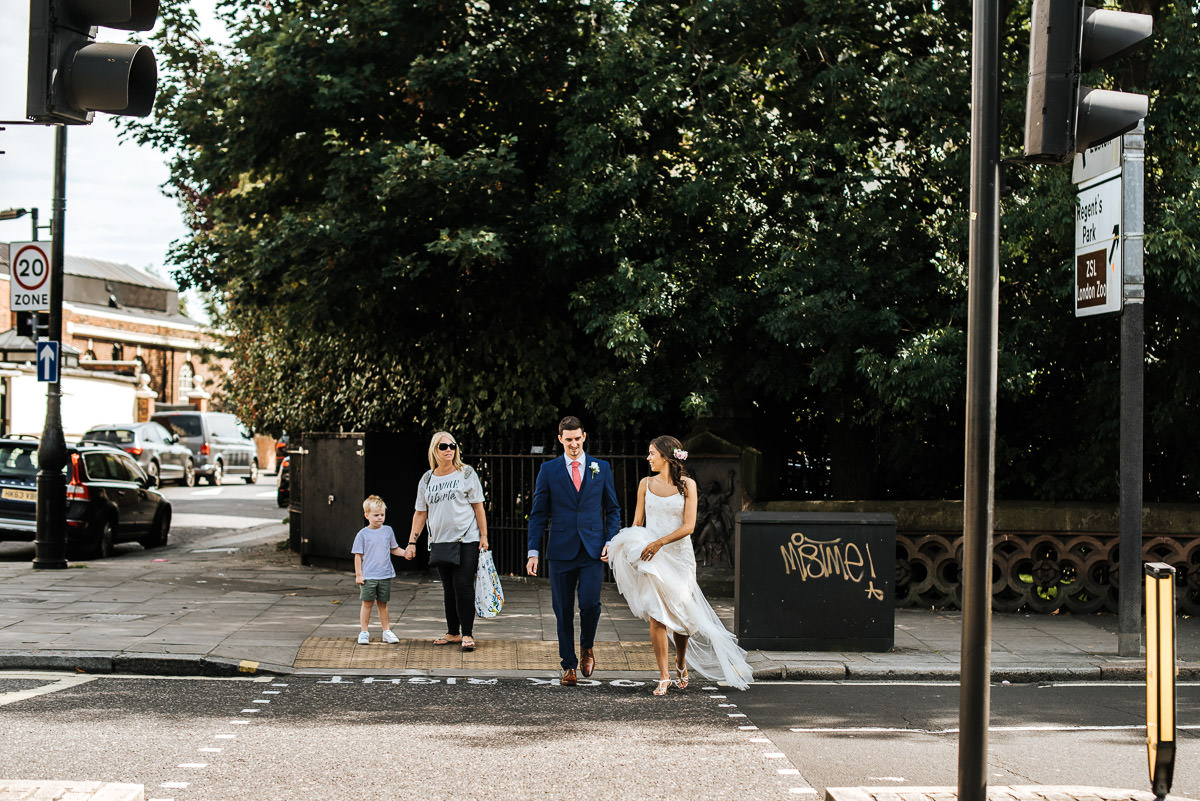 regents park york and albany london wedding couple shots