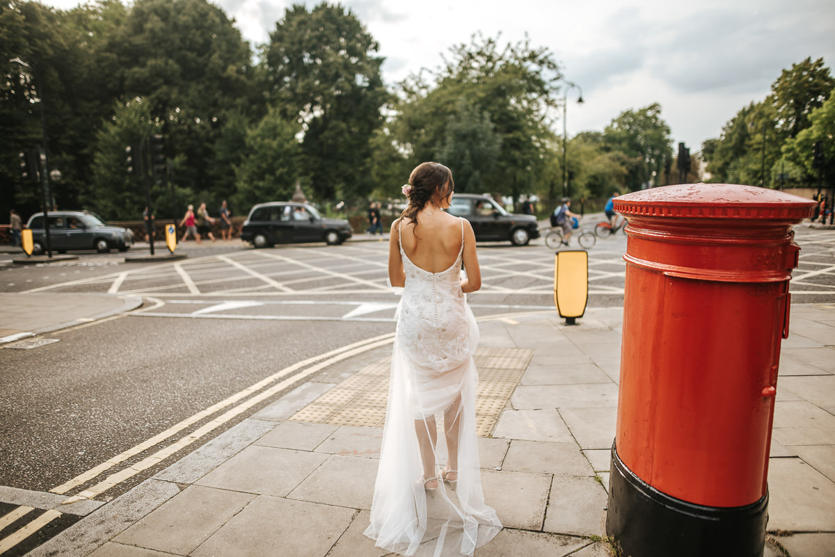 regents park york and albany london wedding bride