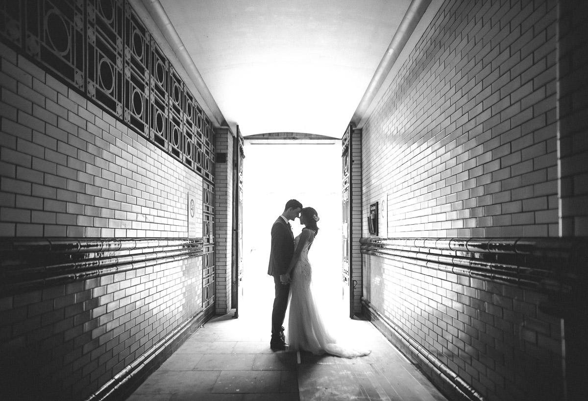 city london wedding bride and groom
