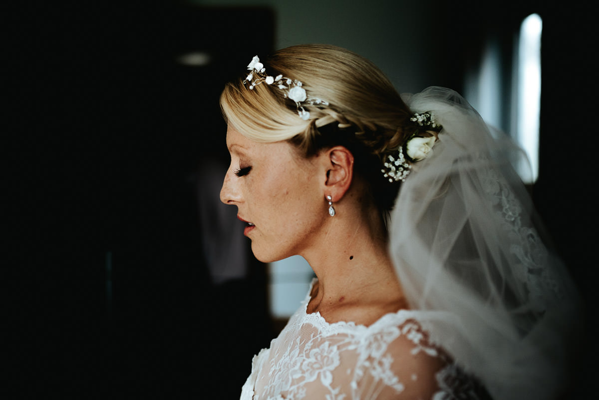 bride by lincolnshire wedding photographer