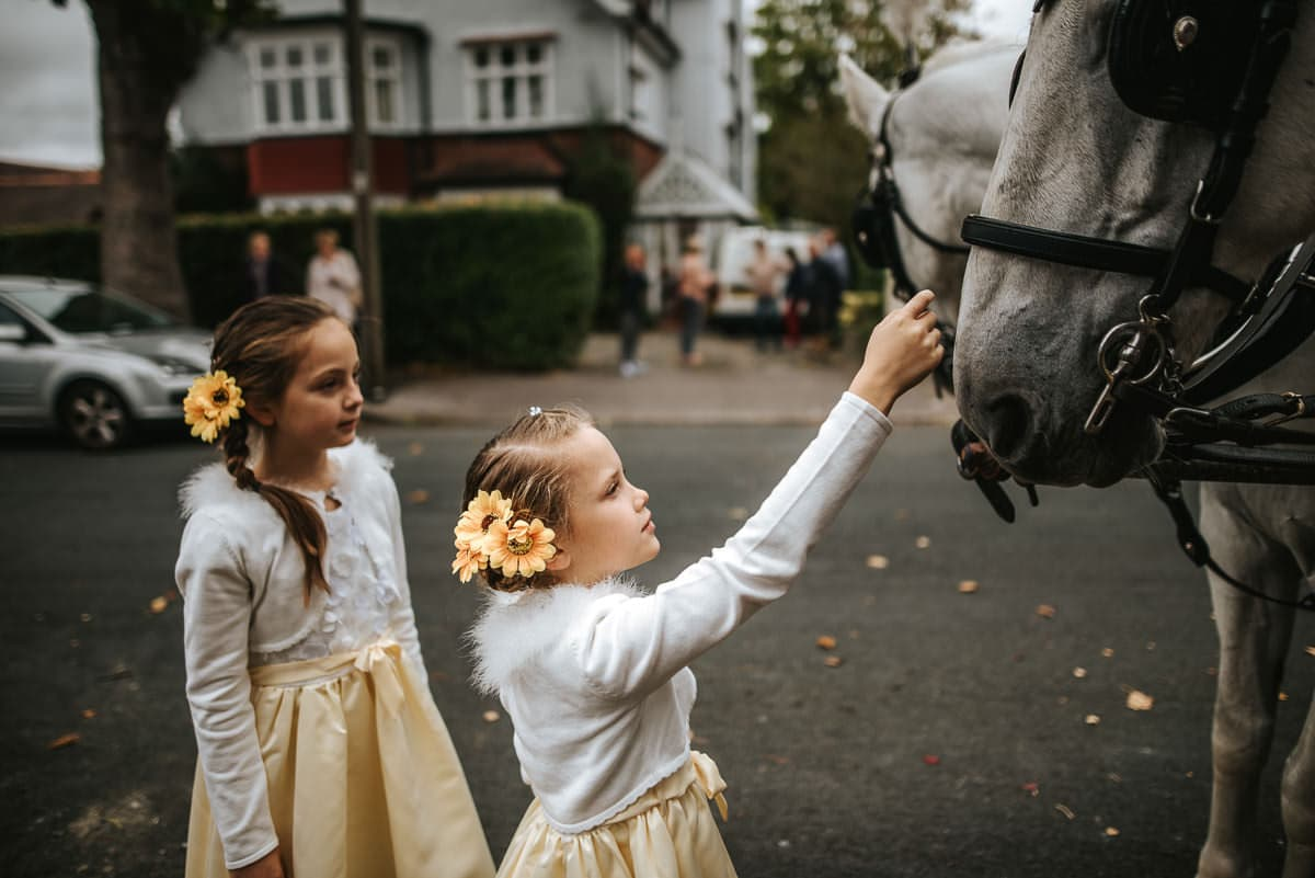 london wedding with horses