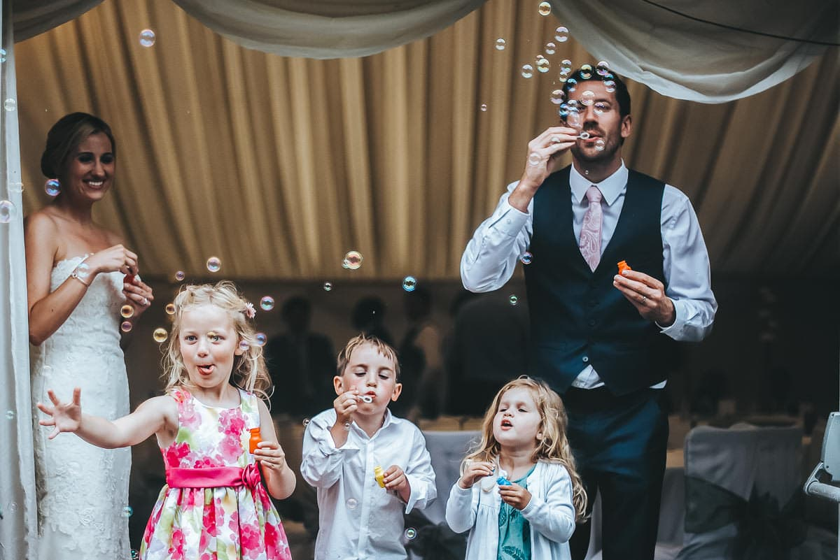 wedding day bubbles