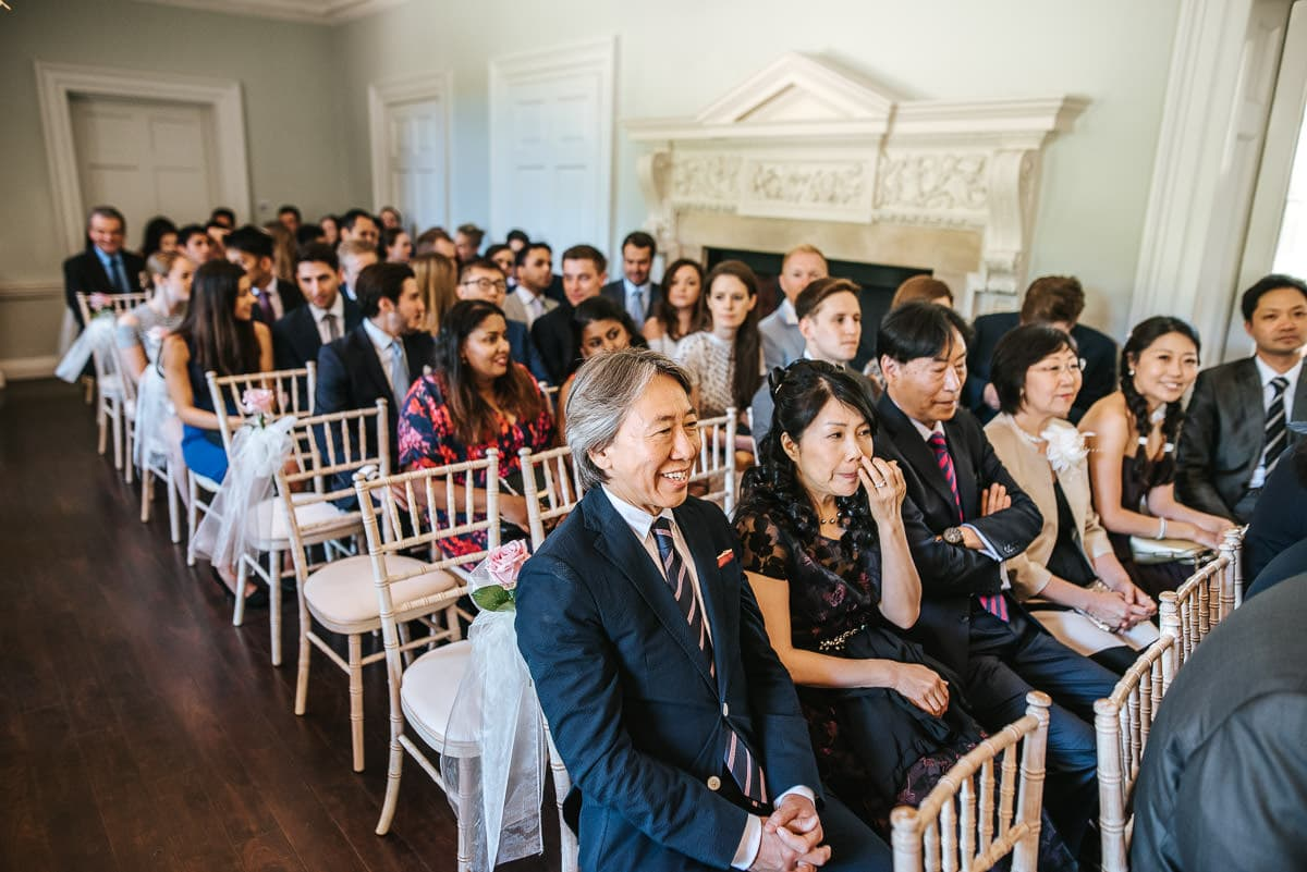 wedding guests gathering at orden hall