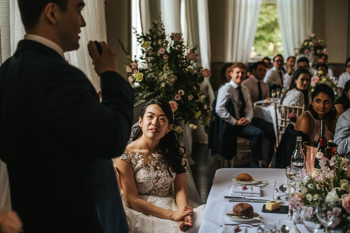 morden hall wedding speeches bride