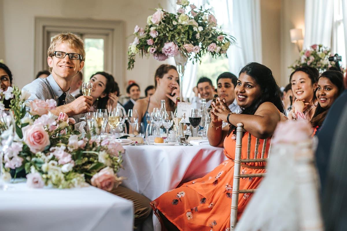morden hall wedding speeches guests reaction