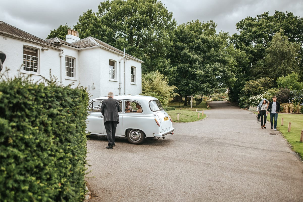 richmond park wedding cab