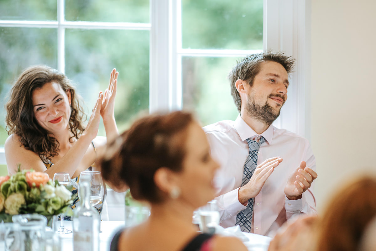 pembroke lodge wedding guests clapping