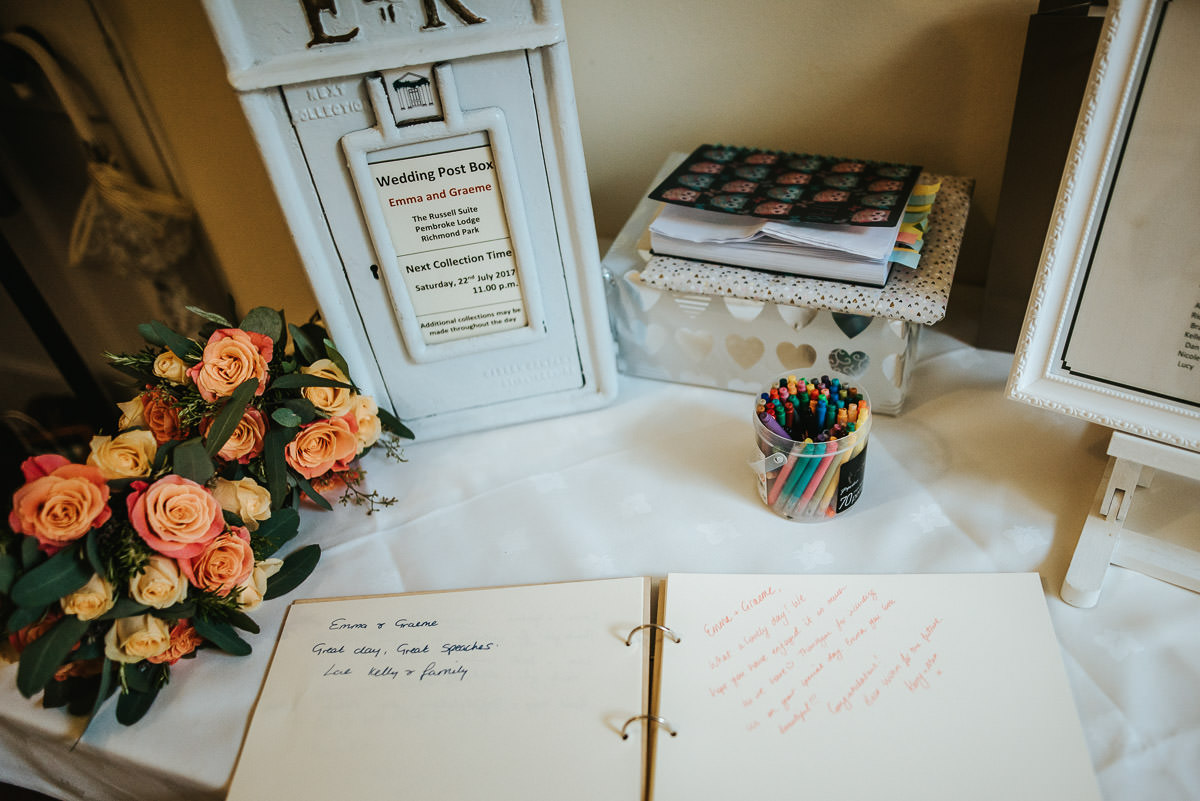 pembroke lodge wedding guest book