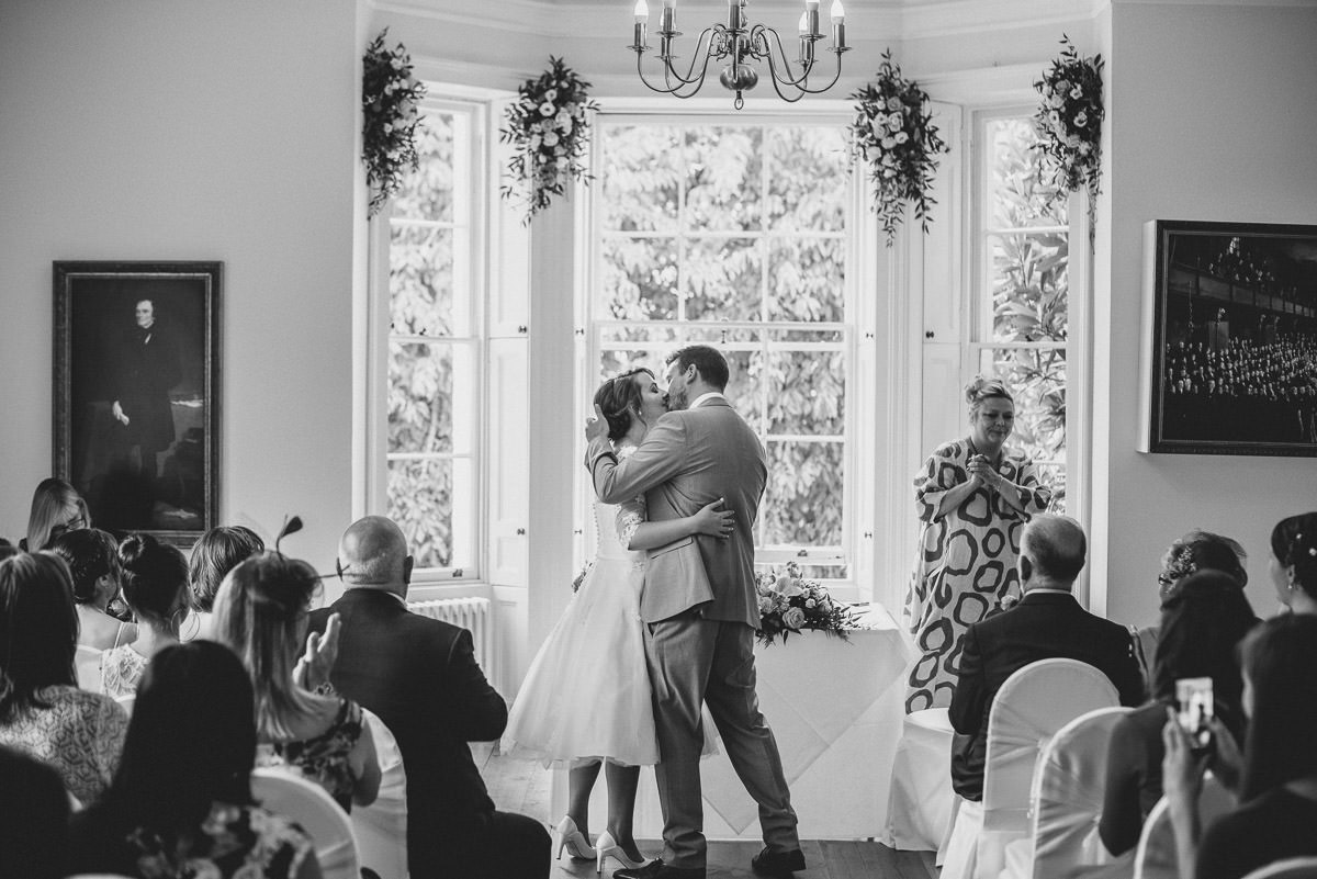 pembroke lodge wedding kiss