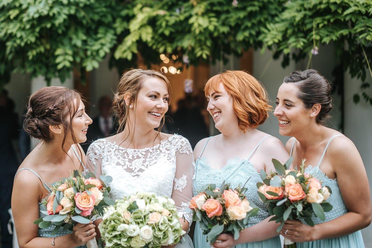 pembroke lodge wedding bride and bridesmaids