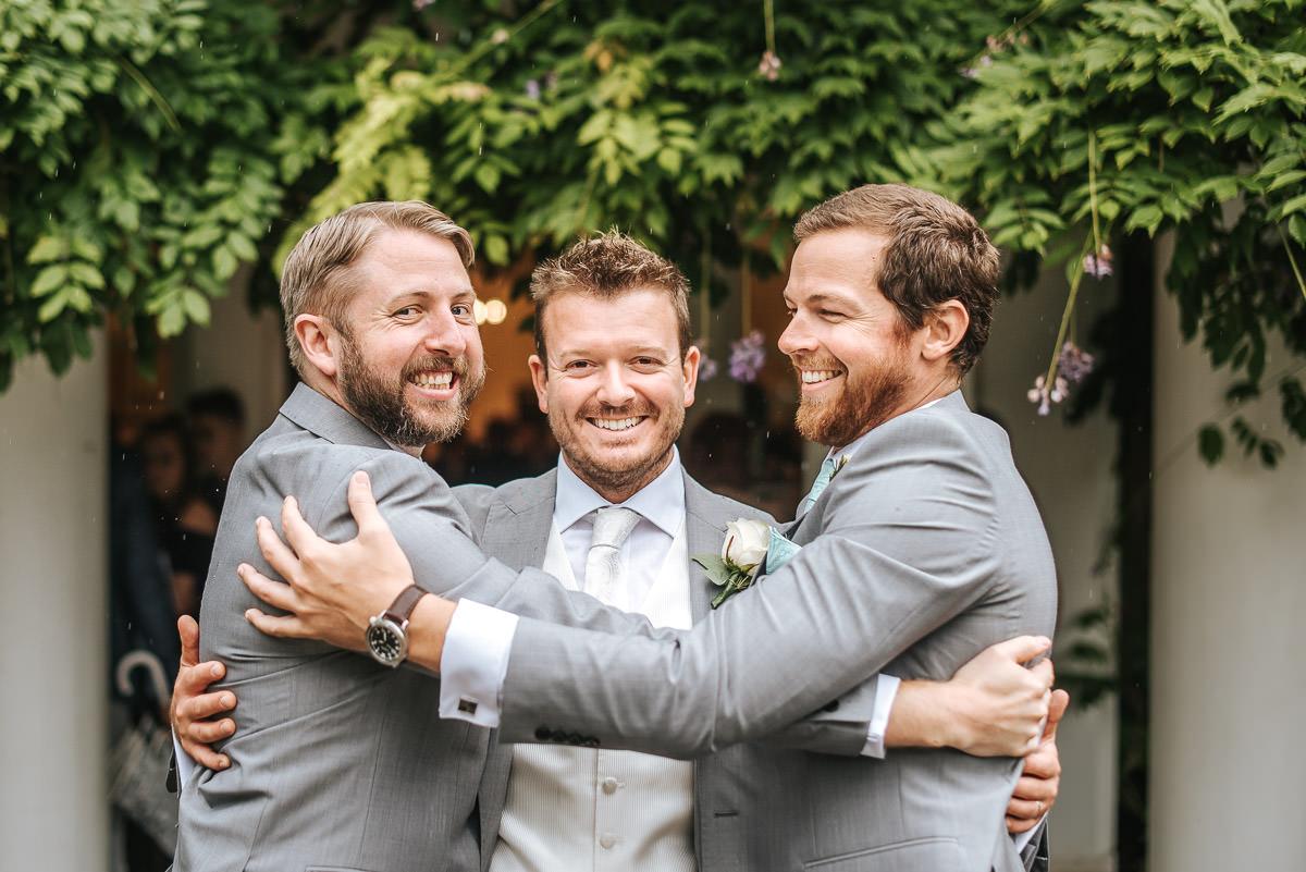pembroke lodge wedding groom and groomsmen