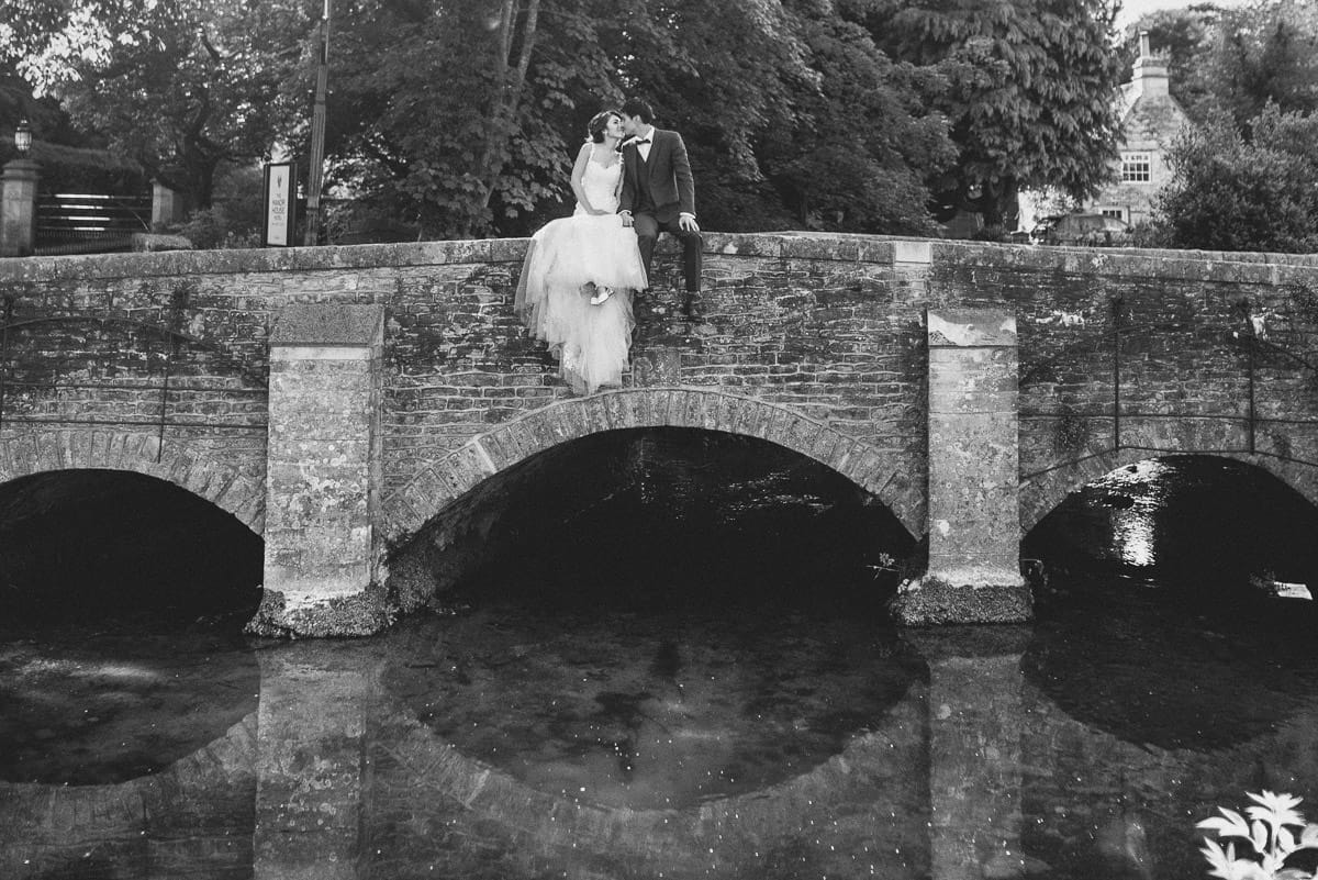 hong kong wedding couple at castle combe