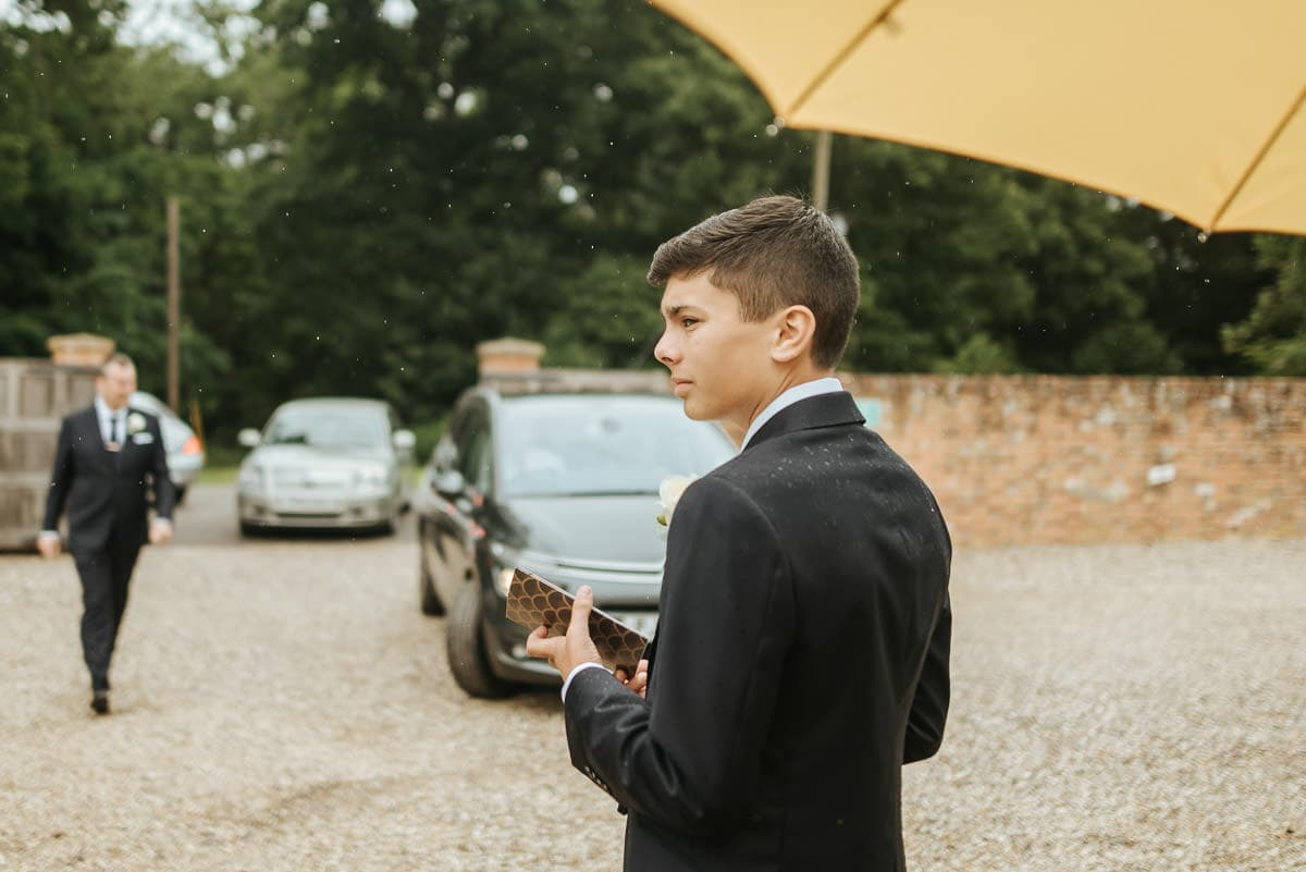 secret walled garden berkshire wedding page boy