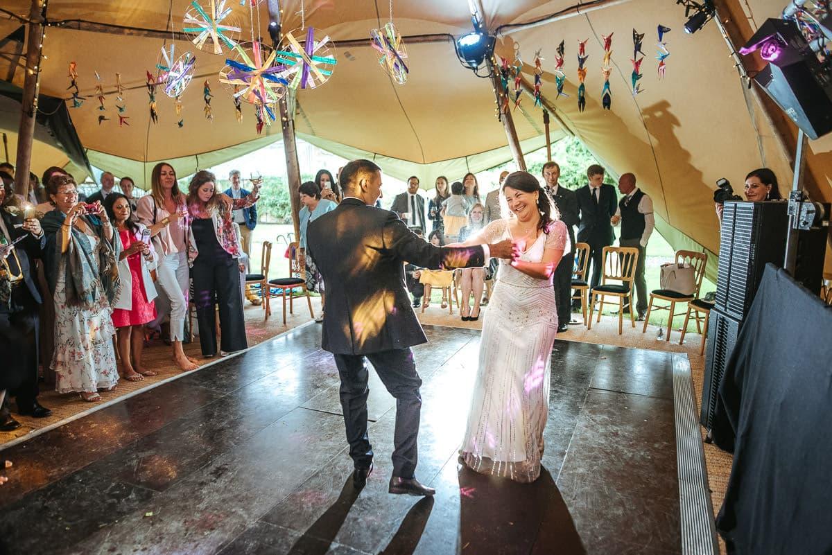 tipi wedding berkshire first dance