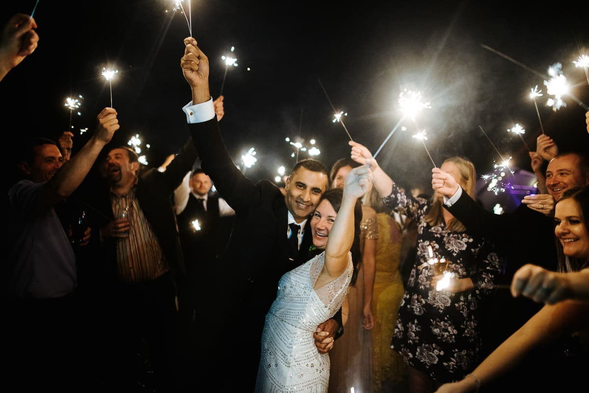 tipi wedding berkshire sparklers
