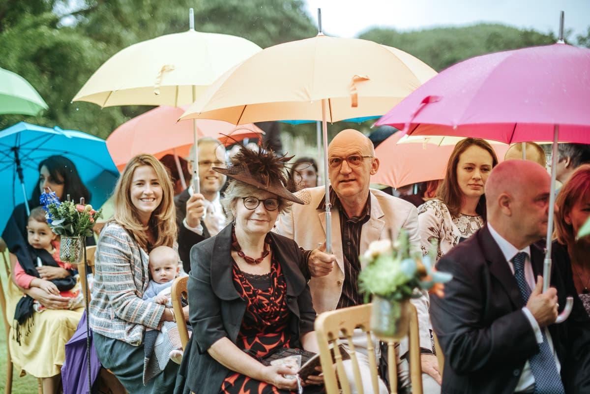 tipi wedding berkshire guests waiting