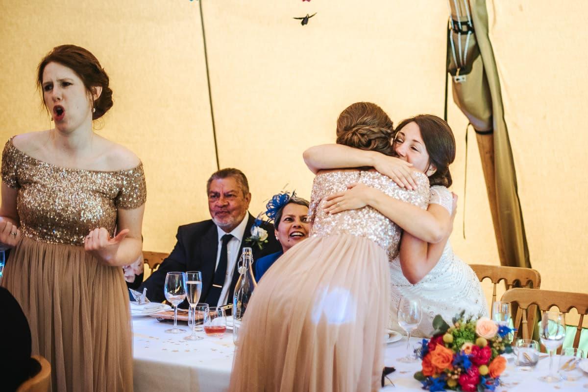 tipi wedding berkshire hugs