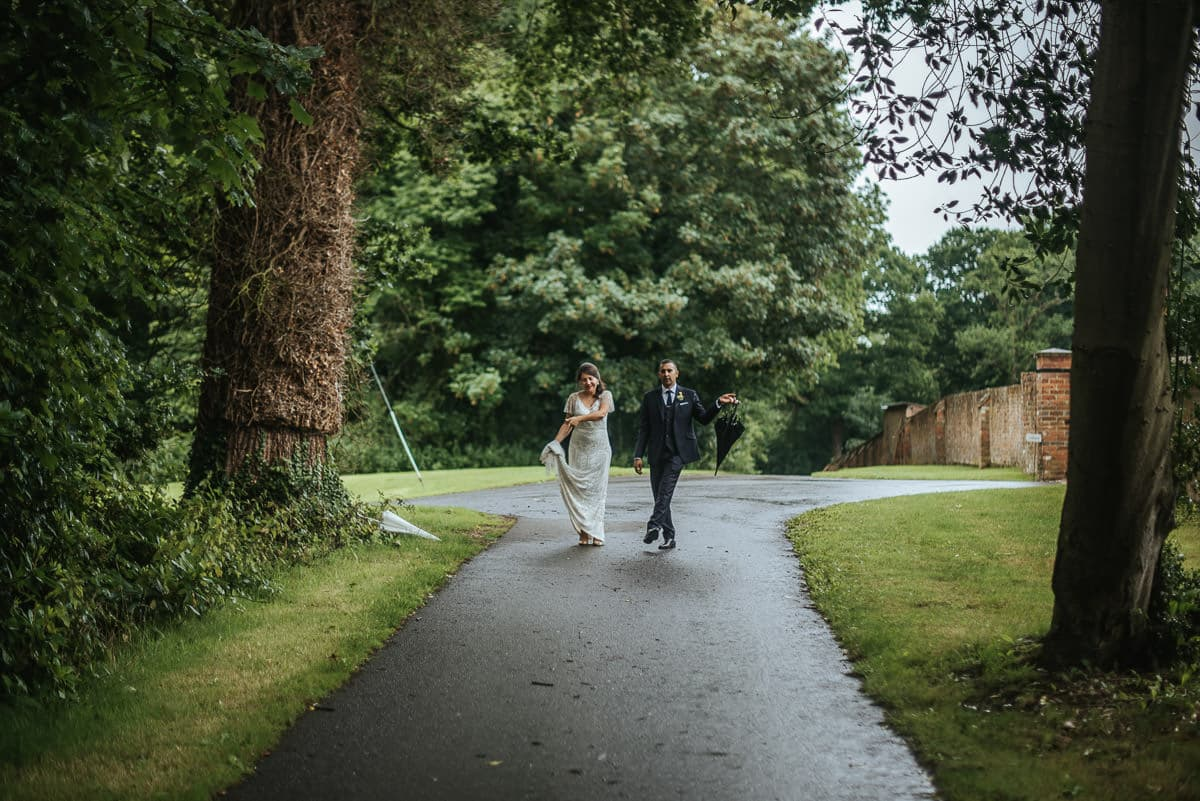 tipi wedding berkshire bride and groom