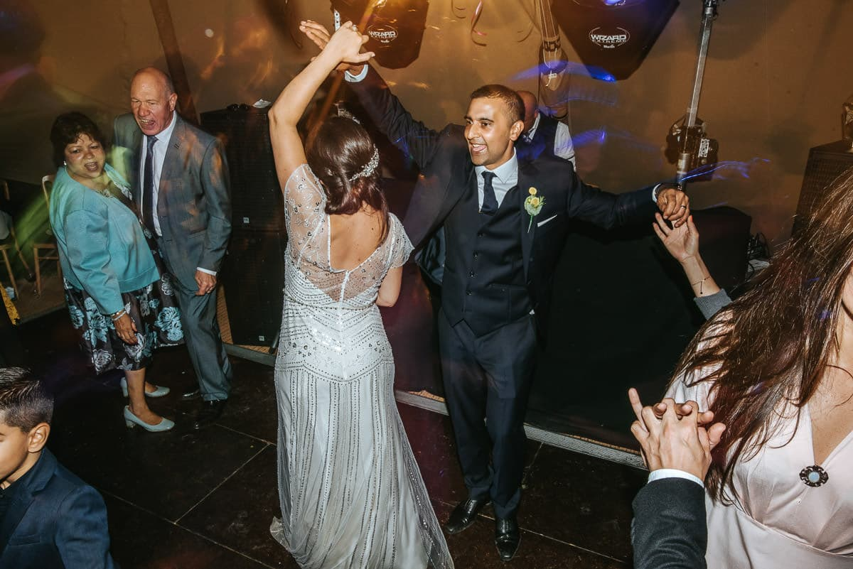 tipi wedding berkshire dancing newlyweds
