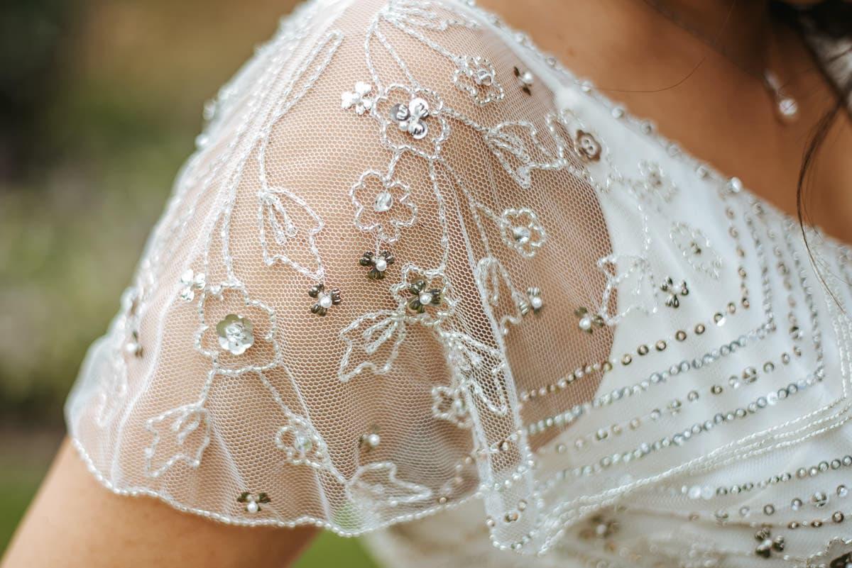getting ready berkshire wedding dress details