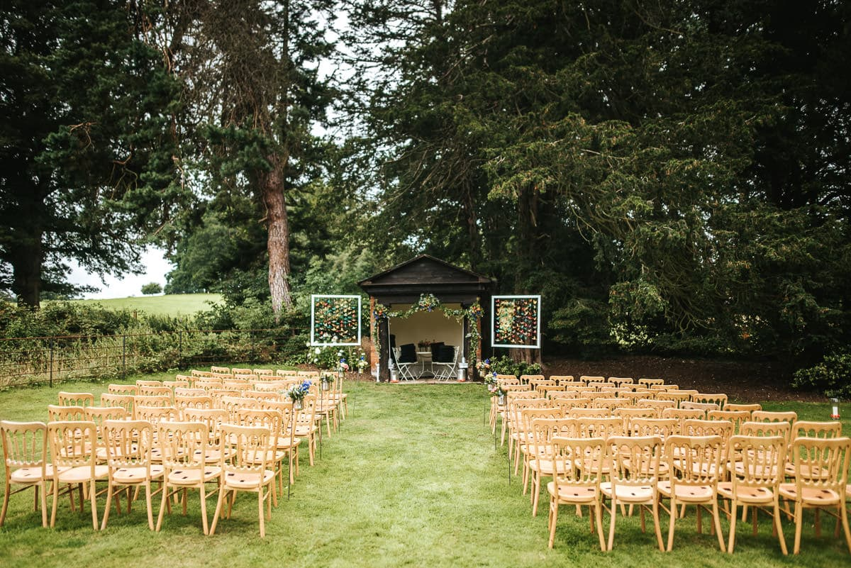 secret walled garden berkshire wedding outdoor ceremony