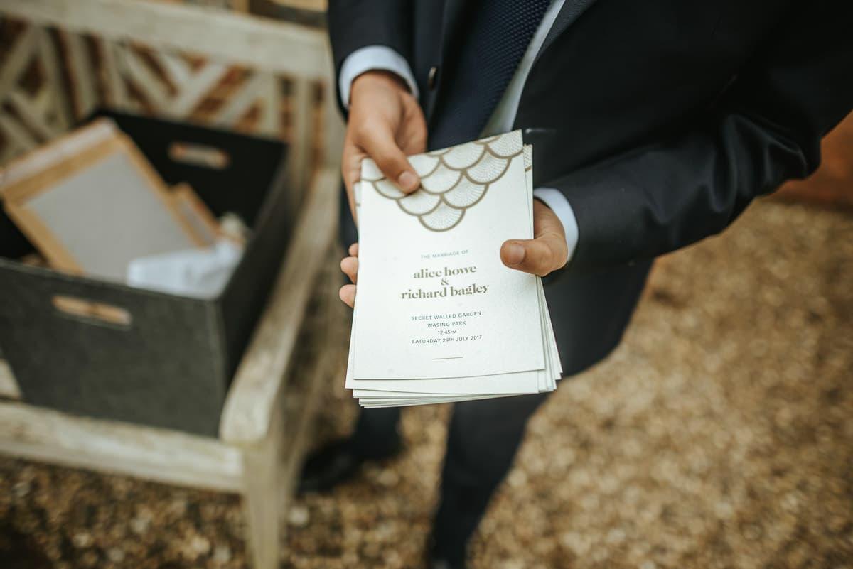 secret walled garden berkshire wedding invitations