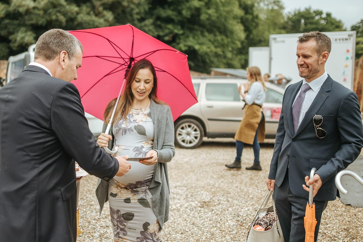 secret walled garden berkshire wedding guests arriving
