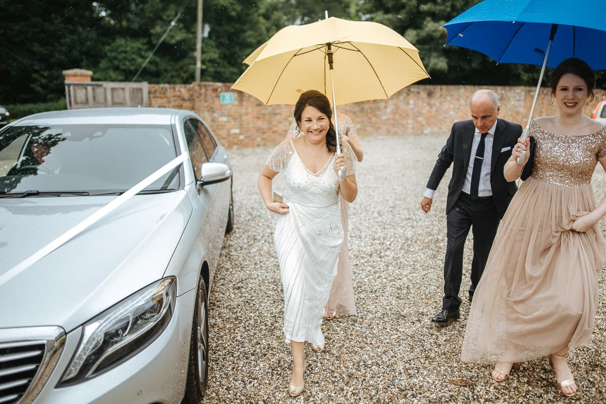 tipi wedding berkshire bride arriving