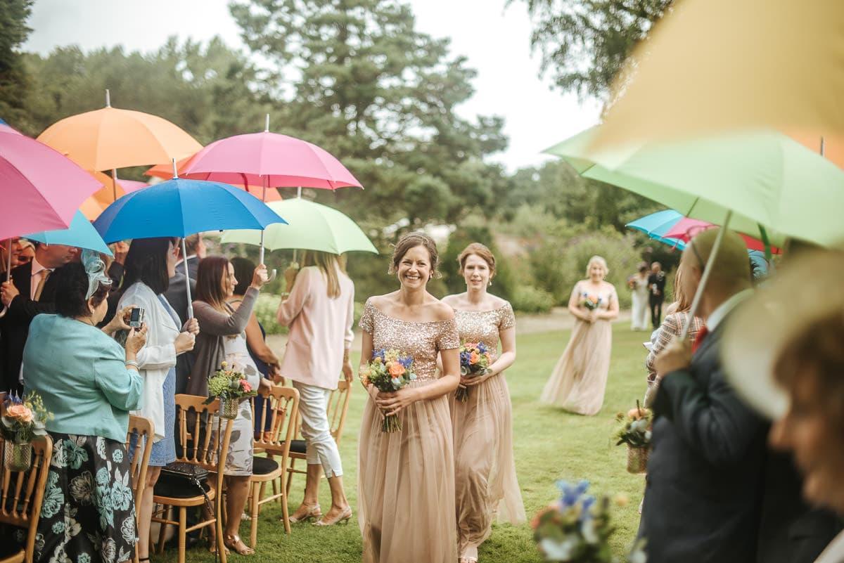 tipi wedding berkshire bridesmaids entering