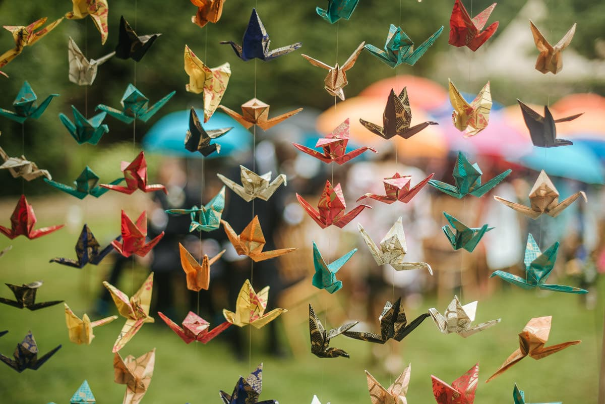 tipi wedding berkshire origami decorations