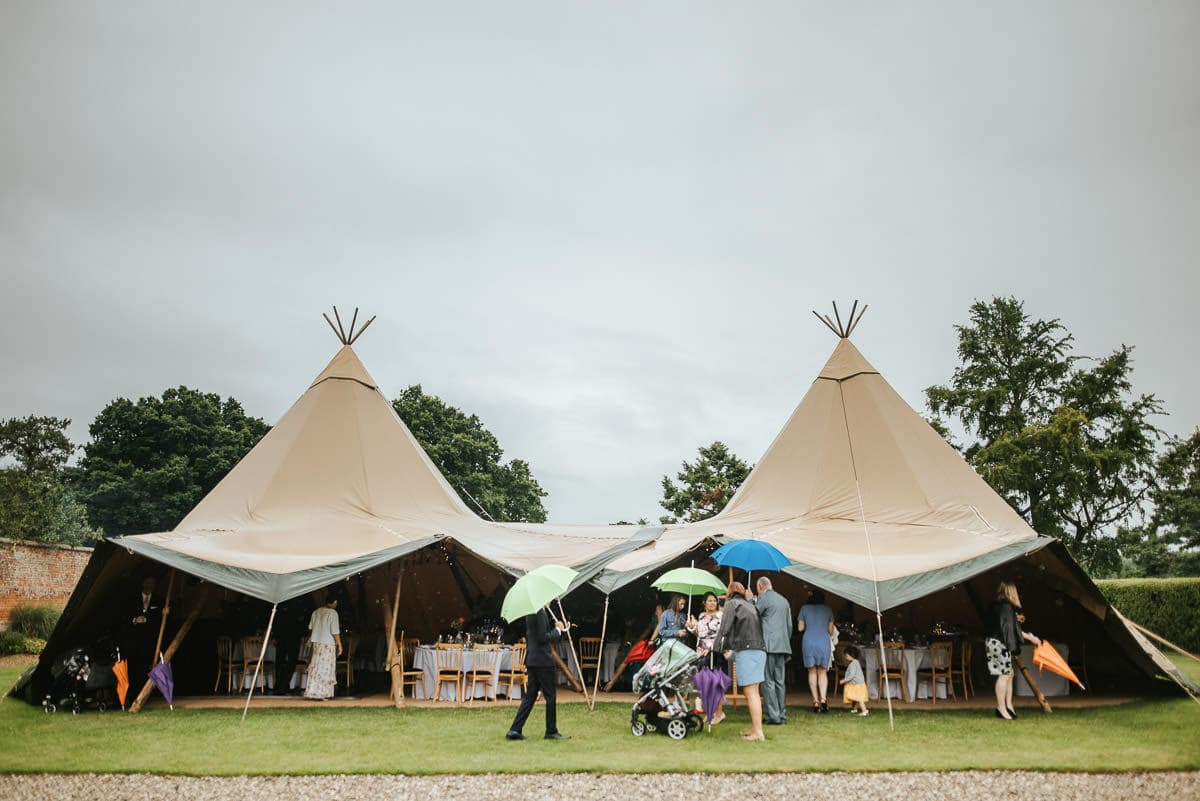 tipi wedding berkshire the tent