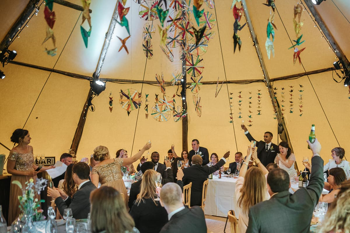 tipi wedding berkshire toast