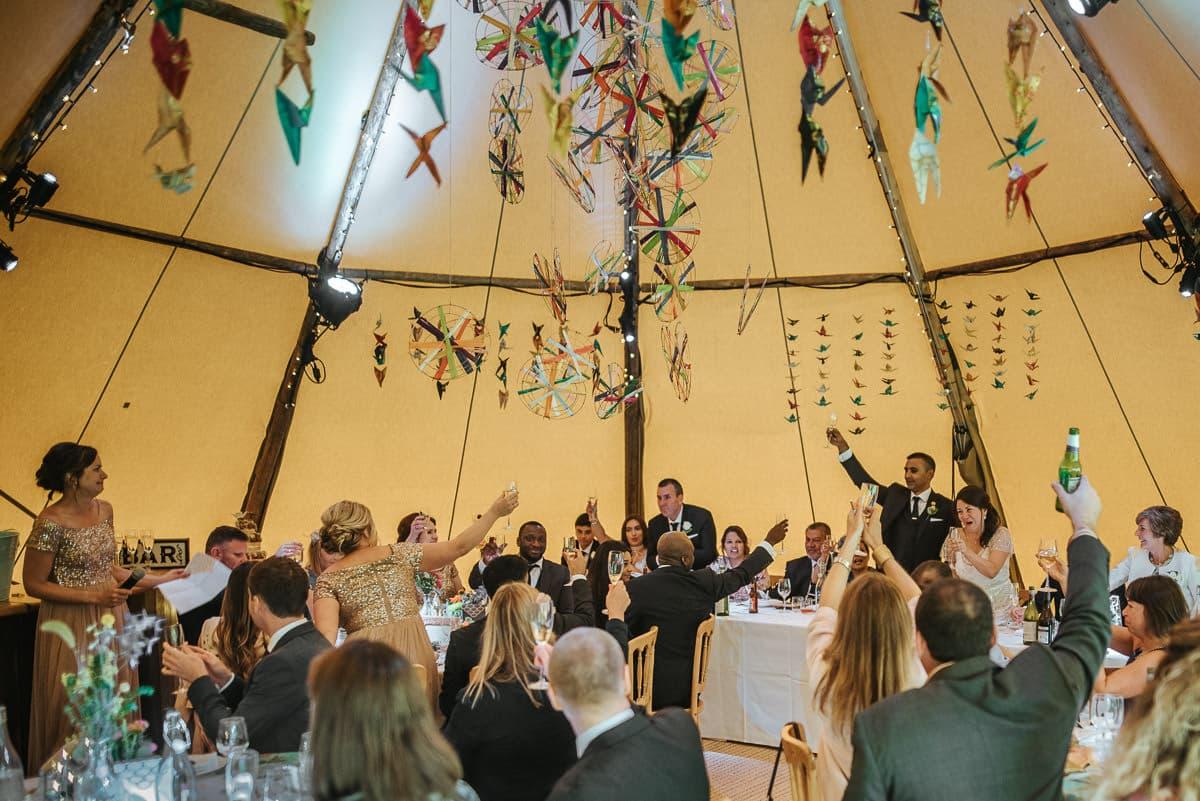 tipi wedding berkshire toast