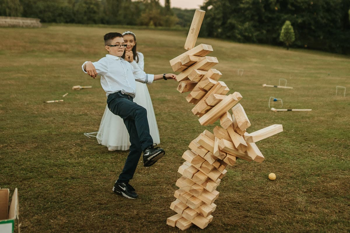 mount ephraim gardens wedding jenga