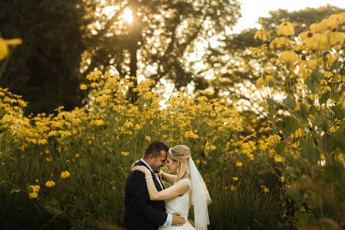 mount ephraim gardens wedding couple in the gardens