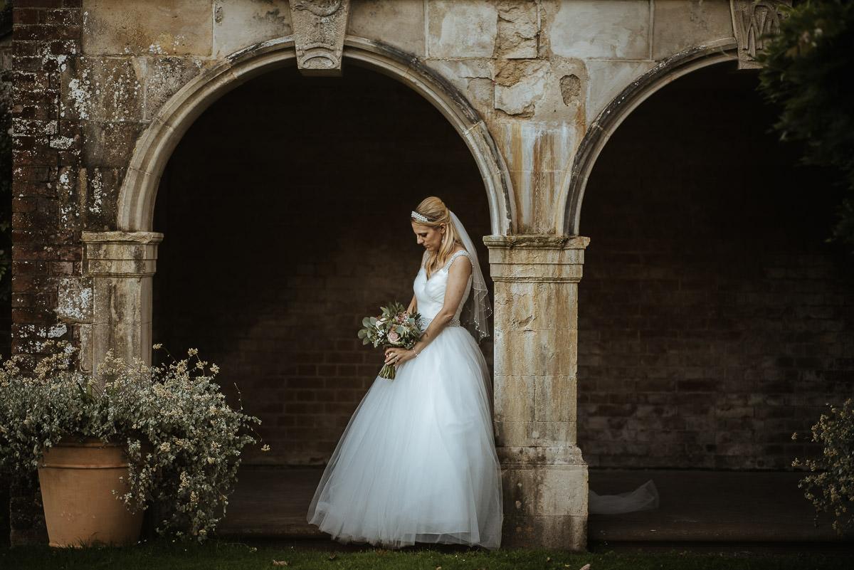 mount ephraim gardens wedding bride portrait