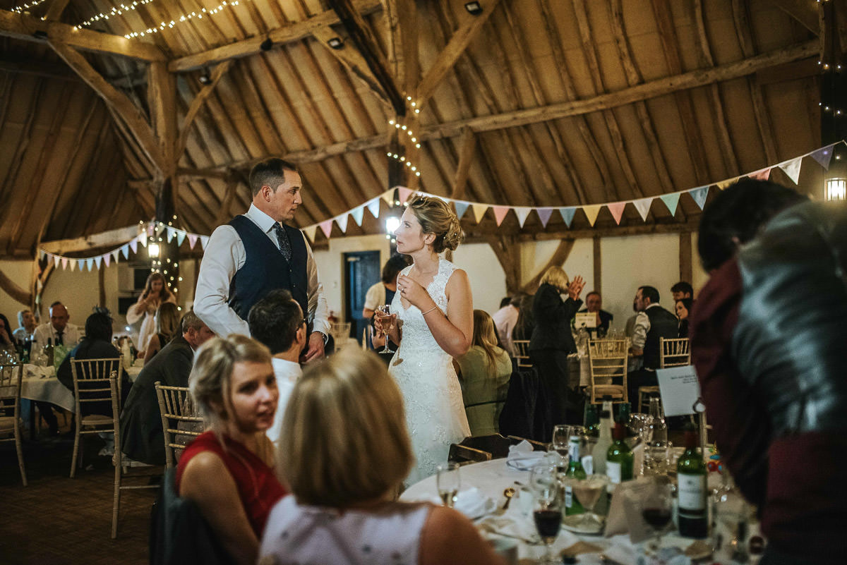 winchester wedding tythe barn speech