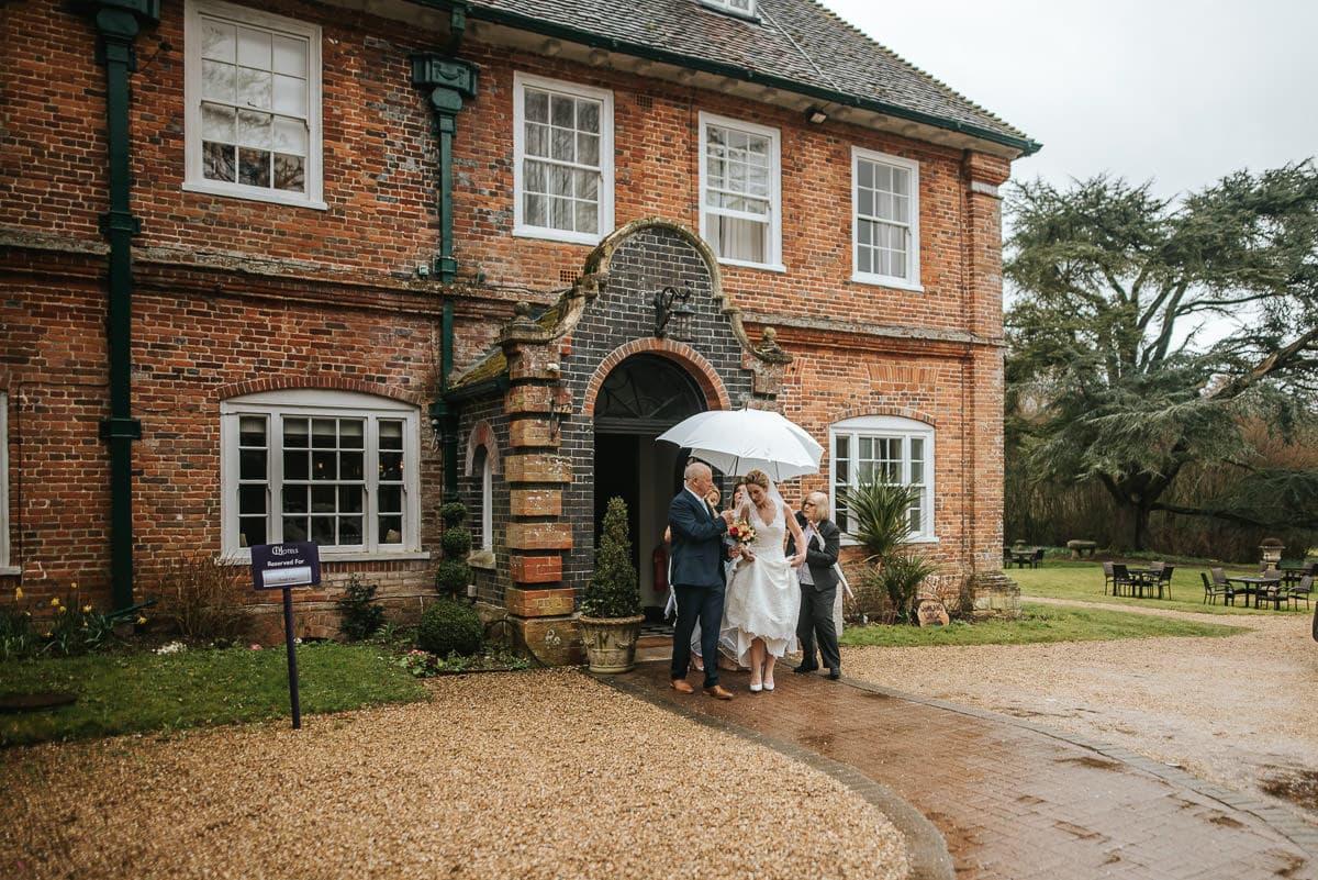 norton park wedding rain