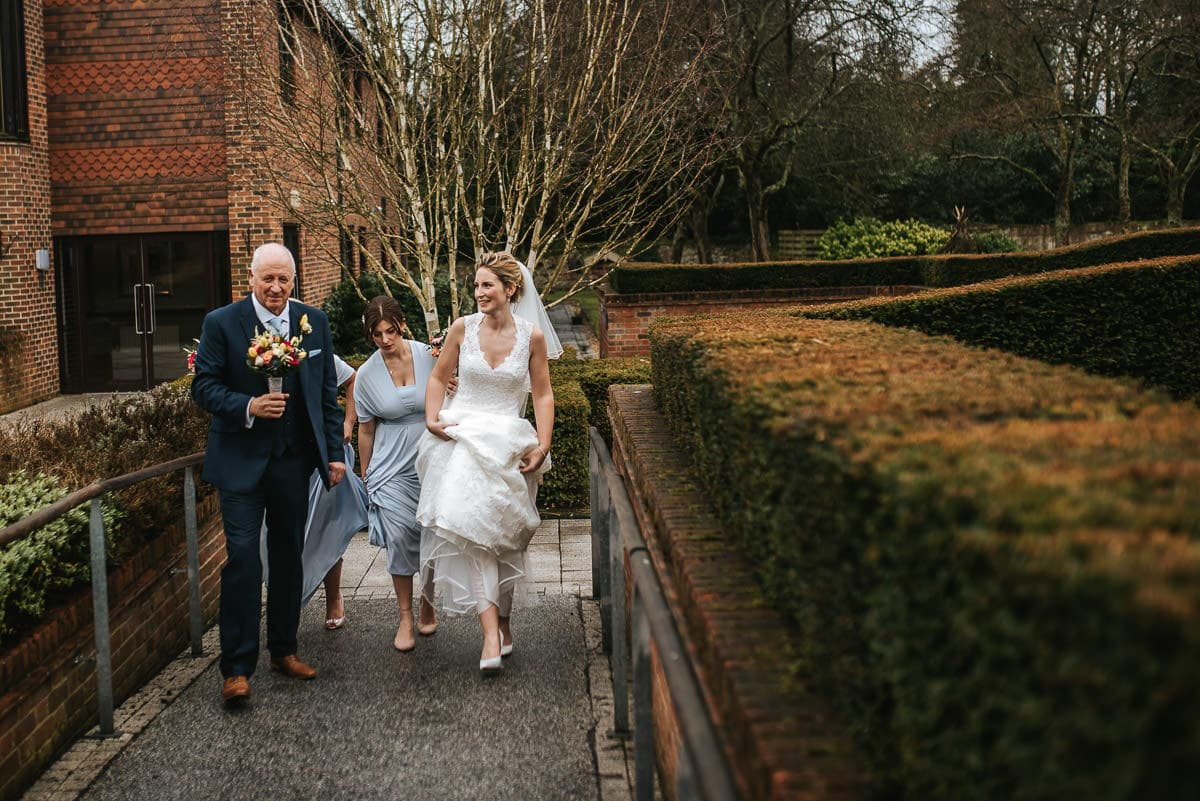 norton park wedding walking with dad